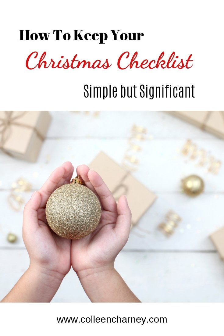 How to keep Your Christmas Checklist Simple but Significant