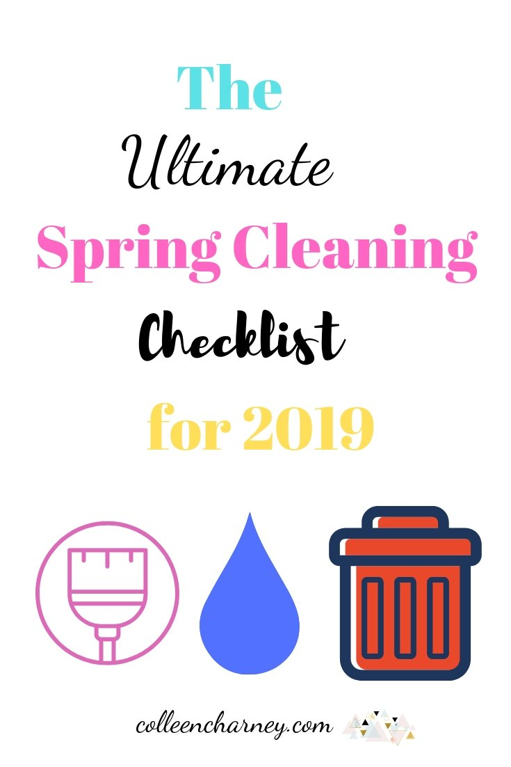 Overwhelmed at the thought of spring cleaning? Check out The Ultimate Spring Cleaning Checklist for 2019 for daily actionable tasks to get it done in 15-30 minutes per day!