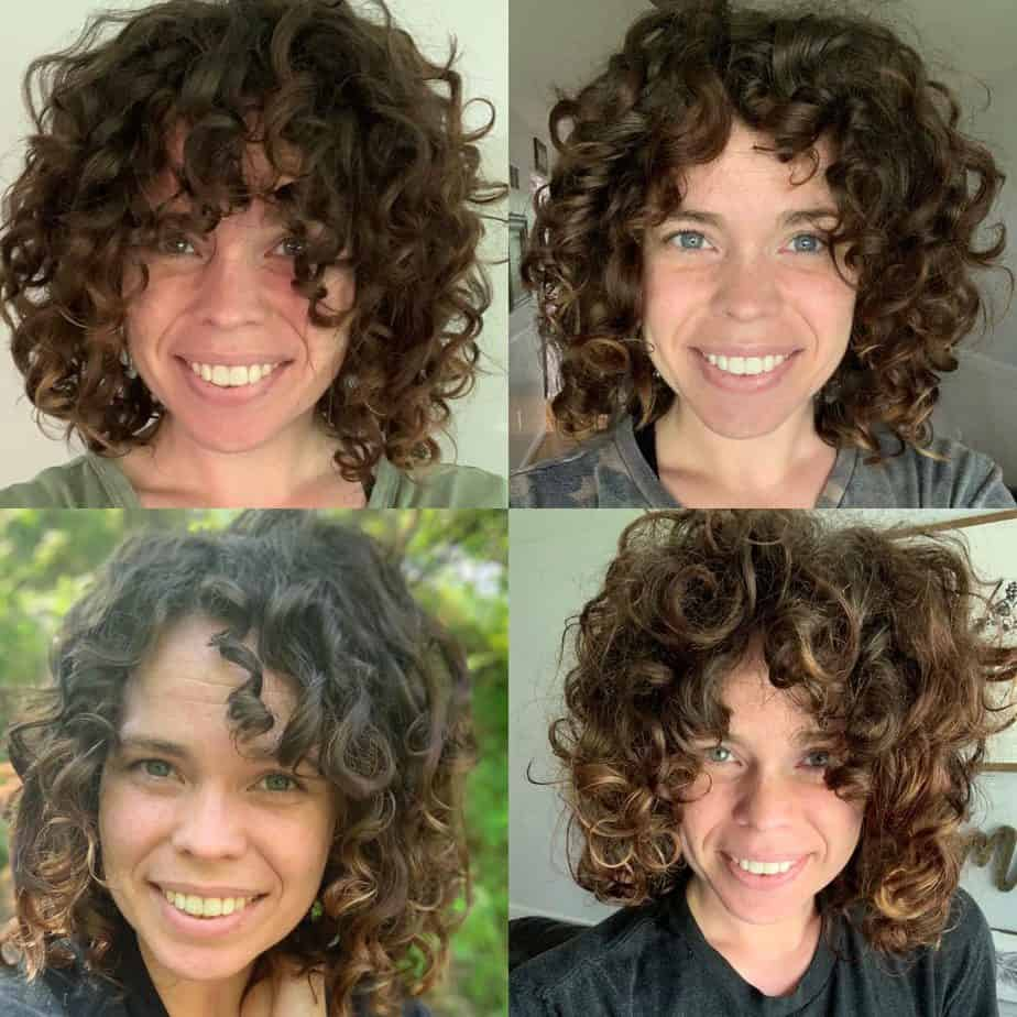 How To Style Curly Bangs